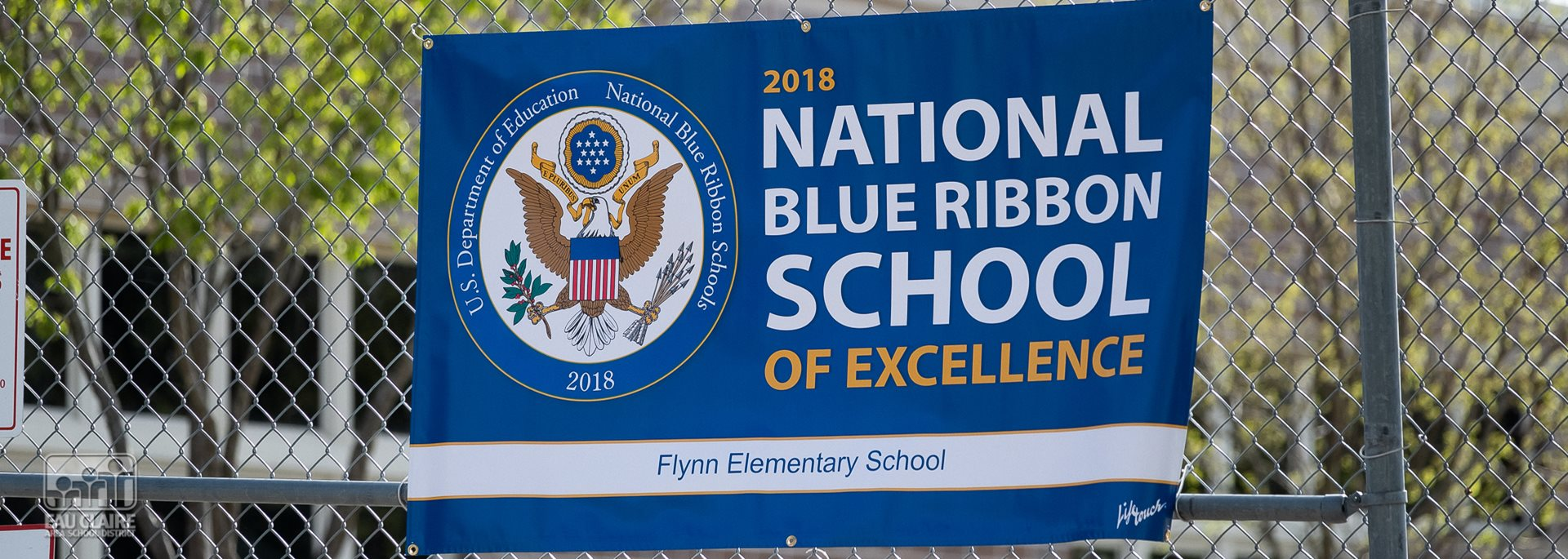 Blue Ribbon School Flag