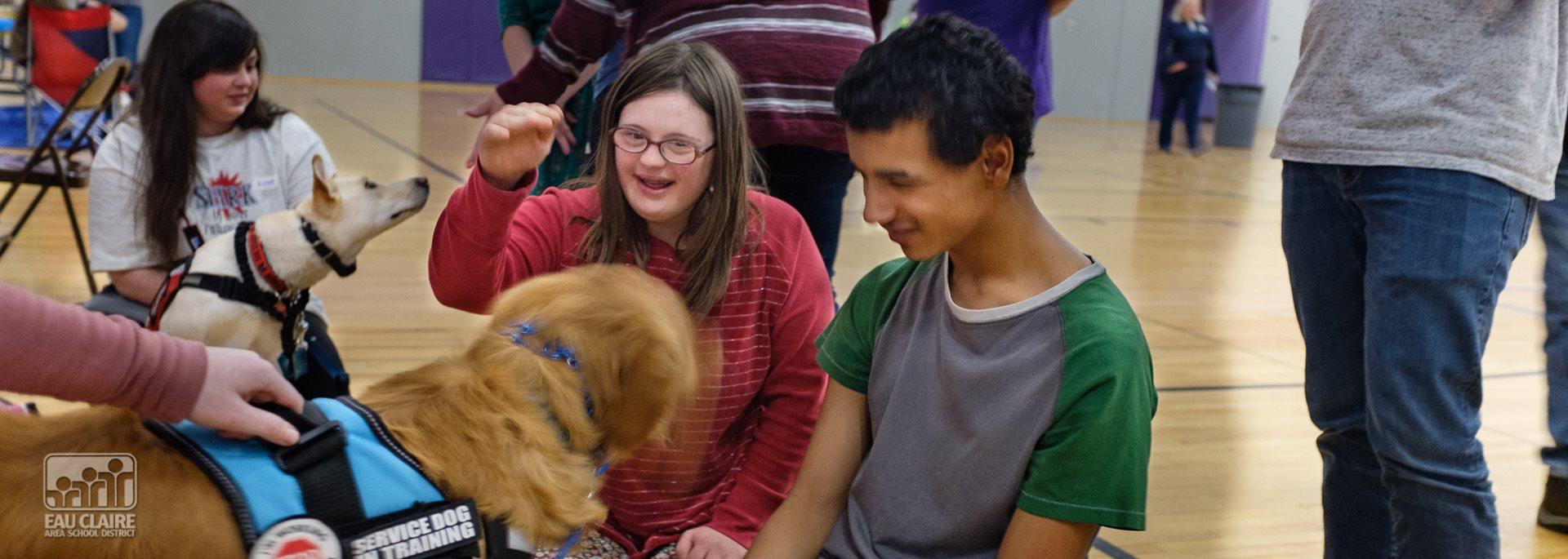 Students with Service Dog