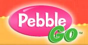 Pink Circle with PebbleGo in Text